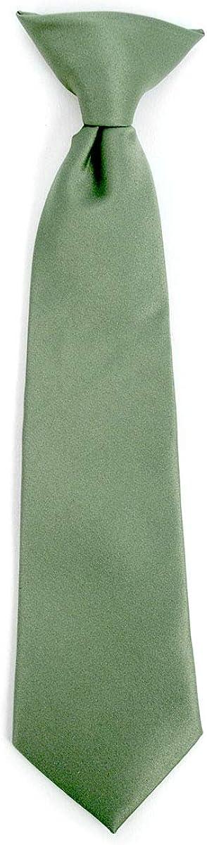 Formal Neckties for Boys Boys Solid Color Clip on Tie Pretied For Kids