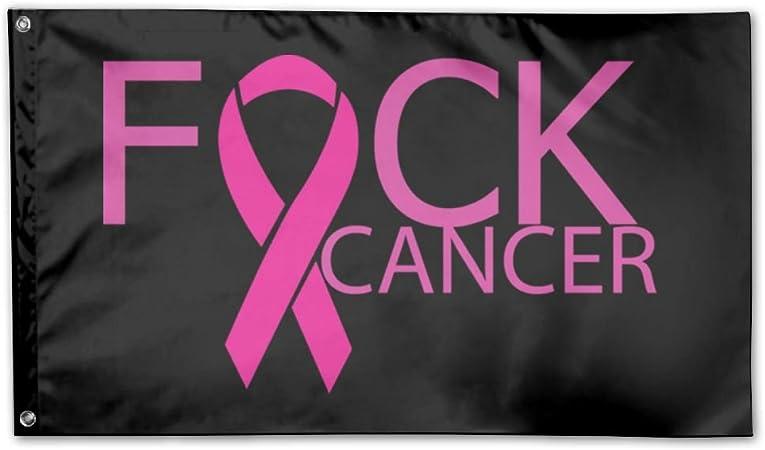 Amazon Com Udsnis Fuck Breast Cancer Garden Flag 3 X 5 Flag For House Decor Banner Black Garden Outdoor