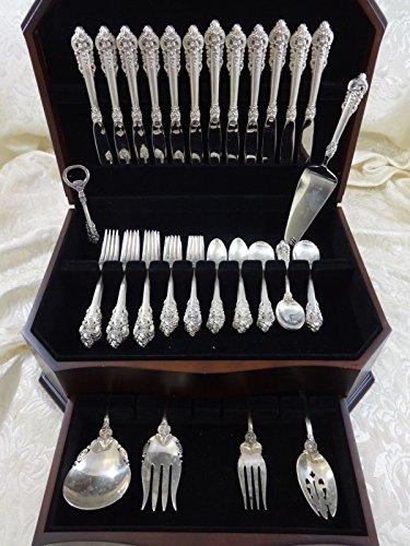 Grande Baroque by Wallace Sterling Silver Flatware Set Service Dinner 66 (Grande Baroque 66 Piece)