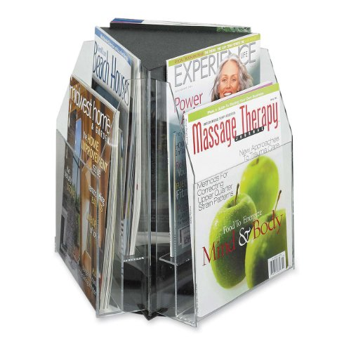(Safco Products 5698CL Reveal Table Top Literature Display, 6 Magazine, Clear)