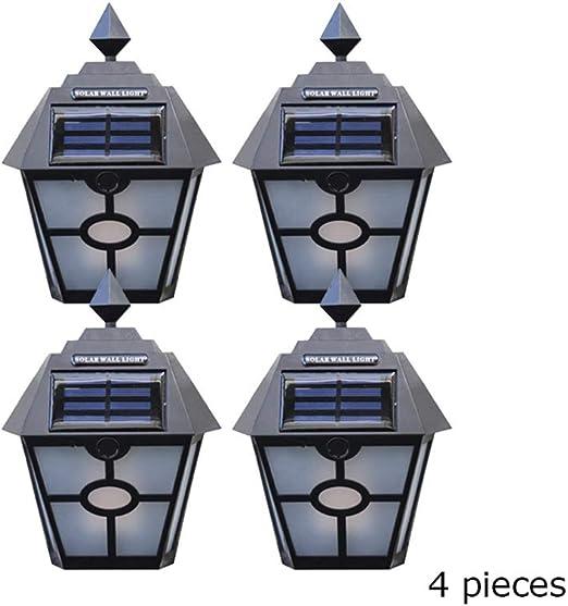 WRHN Luces Solares Jardín,Farolas Decoración Pared Lámparas Efecto De Llama Solares Solar para Jardín Patio Pathway Terraza Calzada Cesped Paisaje: Amazon.es: Hogar