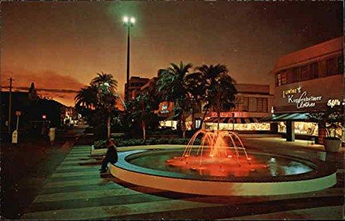 Lincoln Road Mall Miami Beach, Florida Original Vintage - Malls Miami Florida