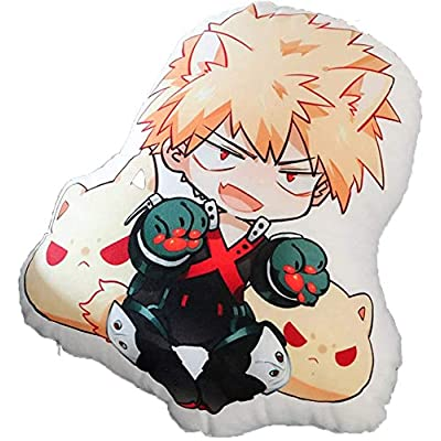 unband No Hero My Hero Academia Stuffed Cosplay Bakugou Katsuki Doll Pillow Kids' Plush Toys Birthday Gifts: Toys & Games