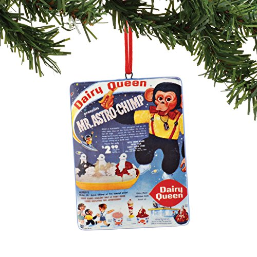 Department 56 Dairy Queen Astro Chimp Sentiment Ornament