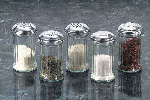 American Metalcraft (GLA316) 12 oz Glass Sugar Shaker w/Lid