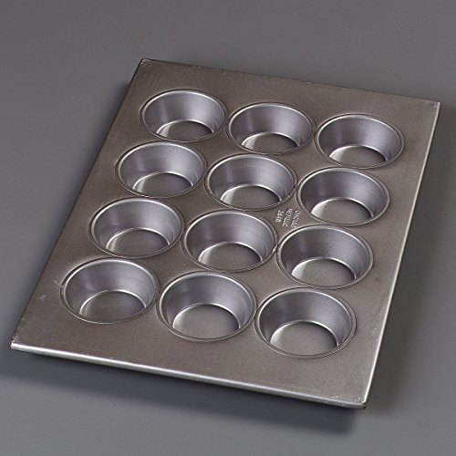 Carlisle 601834 Steeluminum 12 Cup Large Cup Cupcake Pan, 17.75'' Length x 12.87'' Width, 4-oz. Capacity (Case of 6) by Carlisle (Image #4)