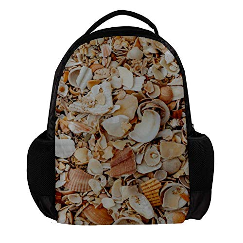 Yuzheng Sea Shells On The Beach, Algarve, Portugal Fashion Backpack Sofa for Women,Men,Student Outdoor