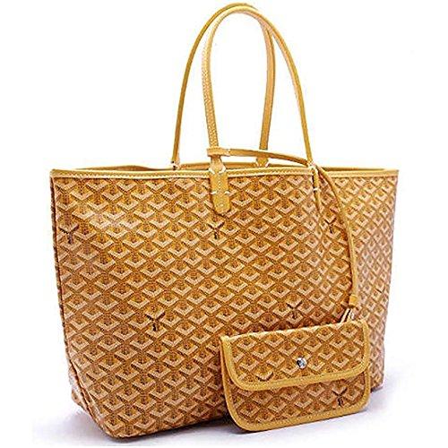 Yellow Classic amp; Women Top Shoulder Handle Tote Purse Large Bags Shopping DLMBB Travel Handbags ZaOBqIqx