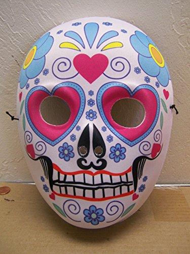 Dia de los Muertos Day of the Dead Sugar Skull Halloween Mask Full Face (Halloween Ii Face Mask)