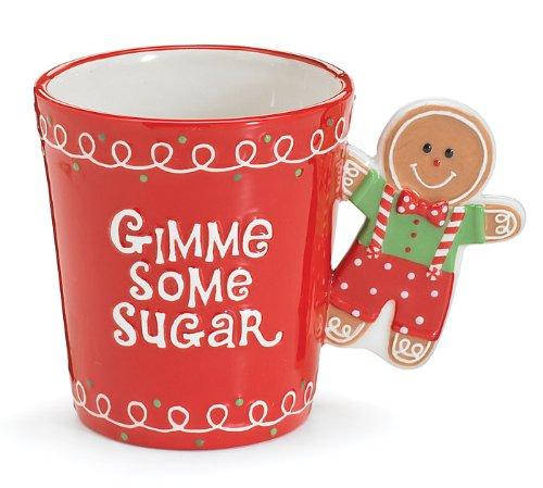 gingerbread man gimme some sugar christmas coffee mug adorable gift and collectible amazoncouk kitchen home - Christmas Coffee Cups