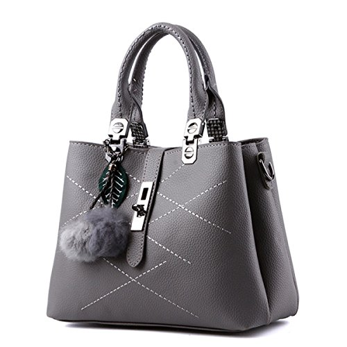 Handbags Bag Small Square Package Spiraea Ornaments Hair Balls Bag Messenger Bag Shoulder Gray Gym Working Women