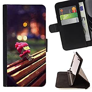 - Cute Park Box - - Monedero PU titular de la tarjeta de cr????dito de cuero cubierta de la caja de la bolsa FOR HTC DESIRE 816 RetroCandy