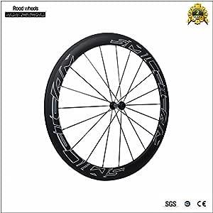 smileteam 700 C ruedas Clincher 50 mm de carbono mate para ...