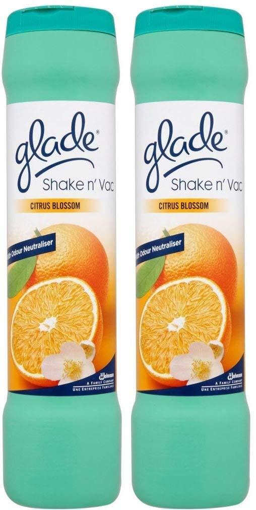 2 x Glade Shake 'n' Vac Citrus Blossom Carpet Cleaning Powder 500gm
