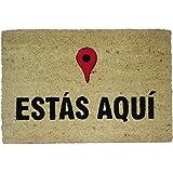 koko doormats Felpudo Entrada para casa y jardín, Estás Aquí, felpudos Entrada casa Originales y Divertidos, 40x60x1.5…