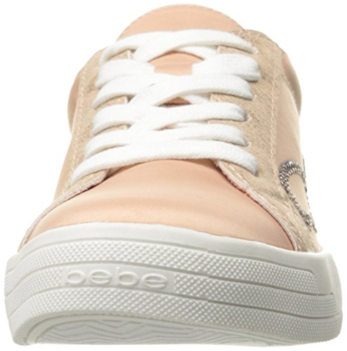 Bebe Womens Deeann Fashion Sneaker Blush Satin