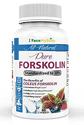 Purest Standardized 20% Forskolin 250mg - Highest Quality- Lean Physique - Weight Loss & Appetite Control - FDA Approved -90 Day 'No Problem' Guarantee! All Natural!