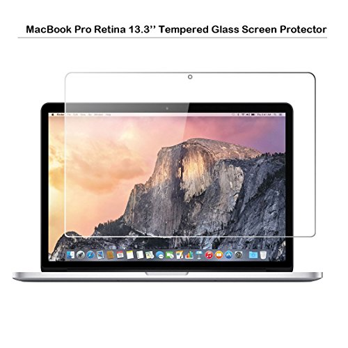 MacBook Pro Retina 13.3-inch Tempered Glass Screen Protector - MOTONG Screen Protector for Apple MacBook Pro 13.3-Inch Laptop,9H Hardness,0.3mm Thickness with Real Glass