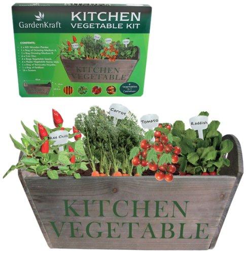Benross GardenKraft 17310 Kitchen Window Sill Garden Vegetable Planter Set:  Amazon.co.uk: Garden U0026 Outdoors