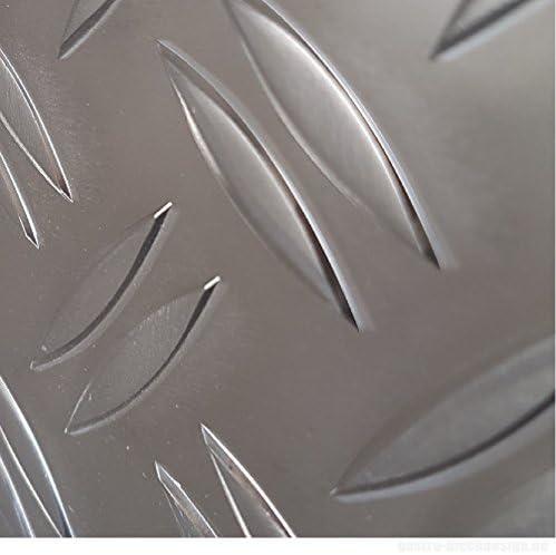 Aluminium Riffel plaat Duett 1520 mm dik 1000x250mm traanplaat winterplaat antislip plaat