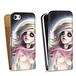 Diseño para Apple iPhone 5C DesignTasche Downflip white - Rhona nude