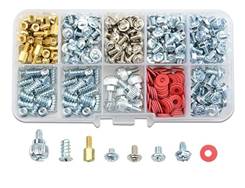 TOVOT 331 PCS PC Computer Screws Standoffs Set Computer Screws Assortment Kit for Motherboard