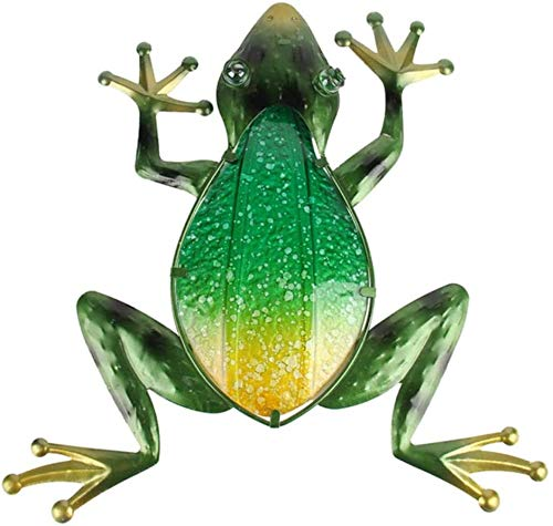 ACAMPTAR Garden Sculpture Outdoor Metal Frog Wall Art For Christmas Garden Decoration Animals And Outdoor Pond…