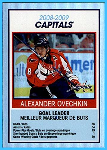 2009-10 O-Pee-Chee OPC Team Checklists #TC30 Washington Capitals Alex Alexander Ovechkin Russia WASHINGTON CAPITALS CAPTAIN