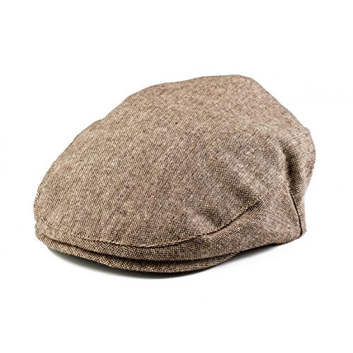 Born to Love - Baby Boy's Hat Tan and Brown Driver Cap XXL 58cm (8yrs - up)