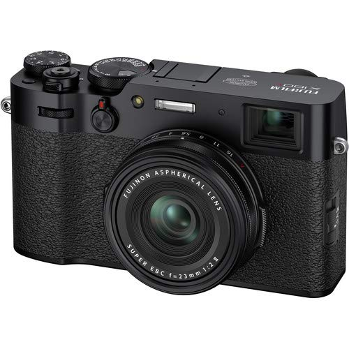FUJIFILM X100V Digital Camera (Black) - Cleaning Kit, Carry Case, and Filters