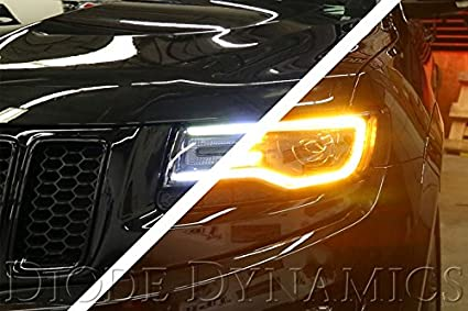 Switchback White+Signal HDHalo DRL For 2014 2018 Jeep Grand Cherokee  Headlight
