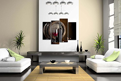 Wine-And-Fruit-With-Glass-And-Barrel-Wall-Art-Painting-For-Kitchen-Pictures-Print-On-Canvas-Food-The-Picture-For-Home-Modern-Decoration