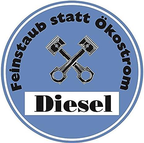 Feinstaub Statt Ökostrom Aufkleber Sticker Blaue Umwelt Plakette Diesel Jdm 2 Stück Fun Lustig Umweltzone Fahrverbot Autoaufkleber Lkw Auto