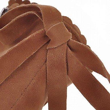 Heart&M Damen Schuhe Kunstleder Herbst Winter Komfort Neuheit Stiefeletten Stiefel Blockabsatz Runde Zehe Booties / Stiefeletten Quaste Für Normal black