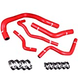 Upgr8 Honda SIR Integra High Performance 4-ply Radiator and Heater Silicone Hose Kit (Red)