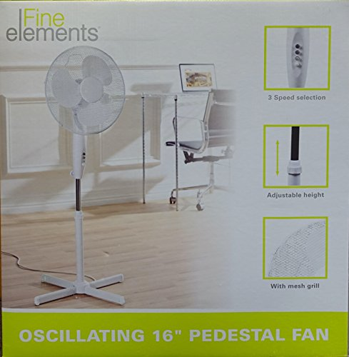 2x 16' OSCILLATING PEDESTAL AIR COOLING ELECTRIC FAN EXTENDABLE ADJUSTABLE...