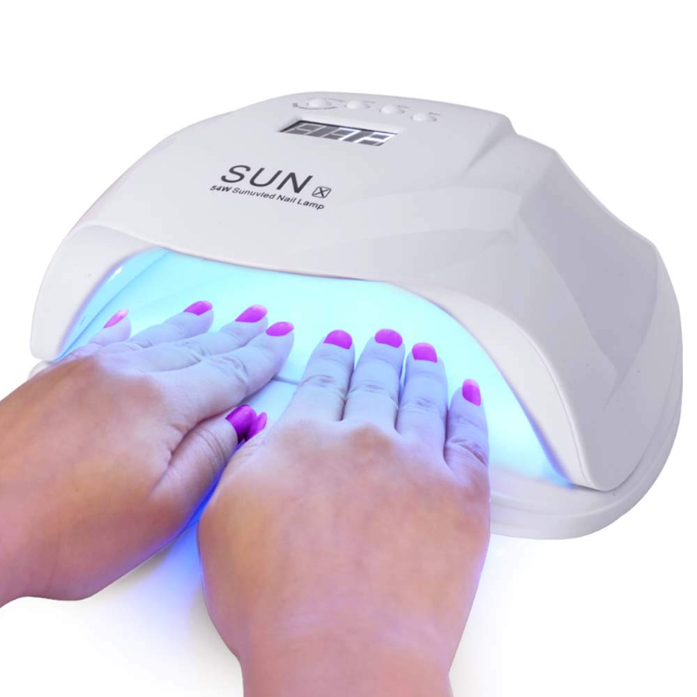 Nail Dryer, 54W Nail Gel Lamp UV Lamps for Nails Gel nail light Gel UV Lamp UV Nail Lamp Led Gel Nail Lamp Gel Nail Dryer Led Nail Dryer Nail Curing Lamp for Fingernail & Toenail Gels UV Nail