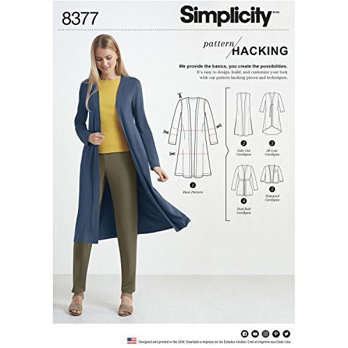 - Simplicity Creative Patterns US8377A Misses' Knit Cardigan with Variations & Multiple Piece for Design Hacking Pattern, A (A (XXS-XS-S-M-L-XL-XXL)