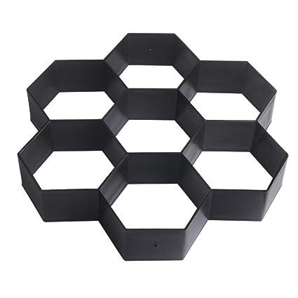 Sports & Entertainment Hexagon Road Paving Brick Patio Concrete Slabs Path Garden Walk Maker Mold Concrete Molds 30*30cm