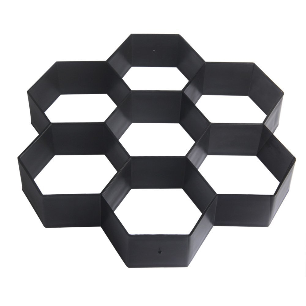 ORYOUGO Hexagon Path Pavement Walk Maker Mold Gardening Reusable Concrete Cement Stone Mold Design Paver Concrete Stepping