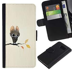 All Phone Most Case / Oferta Especial Cáscara Funda de cuero Monedero Cubierta de proteccion Caso / Wallet Case for Sony Xperia Z3 Compact // Bat Cartoon Fairy Tale Cute Big Eyes Animal