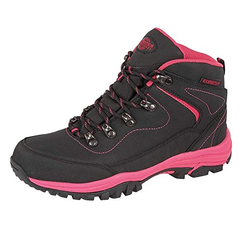 Shoes Memory Northwest Hiking Walking 7 Ladies Size Leather Comfort 3 Black Fuchsia 5 Foam Lightweight 8 4 6 Waterproof Trekking Territory B4WzBgqPxr