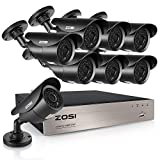 ZOSI FULL 1080P HD-TVI 8CH Security Camera System 4-in-1 Home Surveillance DVR and (8) HD 2.0MP Outdoor/Indoor CCTV Cameras,42pcs IR Leds 120ft night vision, NO Hard Drive (Certified Refurbished) Review