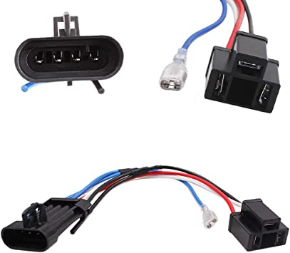 amazon.com: belt&road harness adapter for hd road glide street glide,h4  harness for hd headlights h4 to 4 pin: automotive  amazon.com