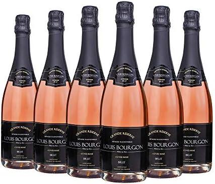 Pack Louis Bourgon Grande Réserve Brut Cuvée Rosé | 6 botellas| 0,75L