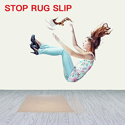 16 PCS Rug Gripper, Double Side Anti Curling & Non Slip Rug Gripper Keep Carpet Tape Stop Slipping for Outdoor / Bath / Kitchen / Round / Corner / Hardwood Floor Carpet Pads - White by drtulz (Image #5)
