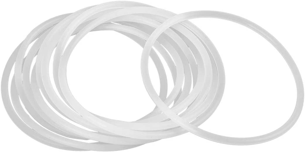 X AUTOHAUX 10pcs White Silicone Rubber O-Ring Seal Gasket for Car 75mm x 3.1mm
