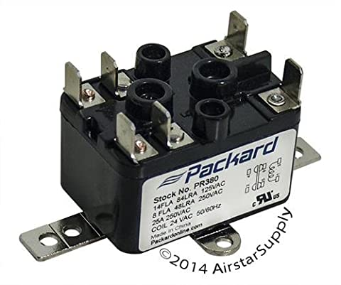 Coleman 90-380 Replacement Heavy Duty Switching Fan Relay SPST 1-NO , 1-NC 24 V Coil by Packard