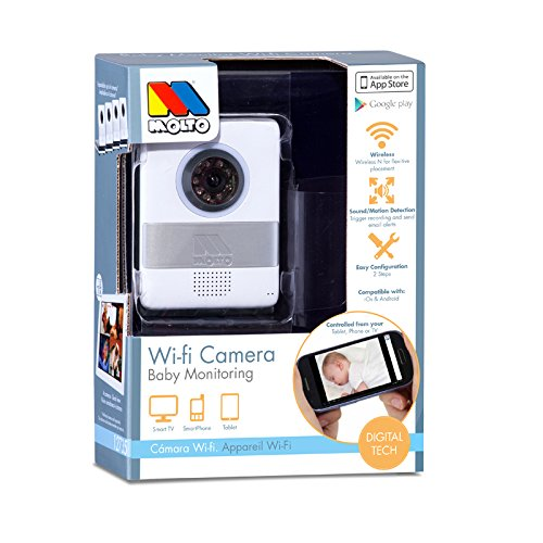 Molto 14753 – Cámara de vigilancia WiFi, color blanco