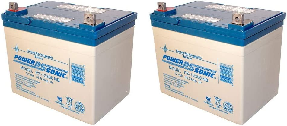 Power Sonic 12V 35AH SLA Replacement Battery for Crown 12CE33-2 Pack